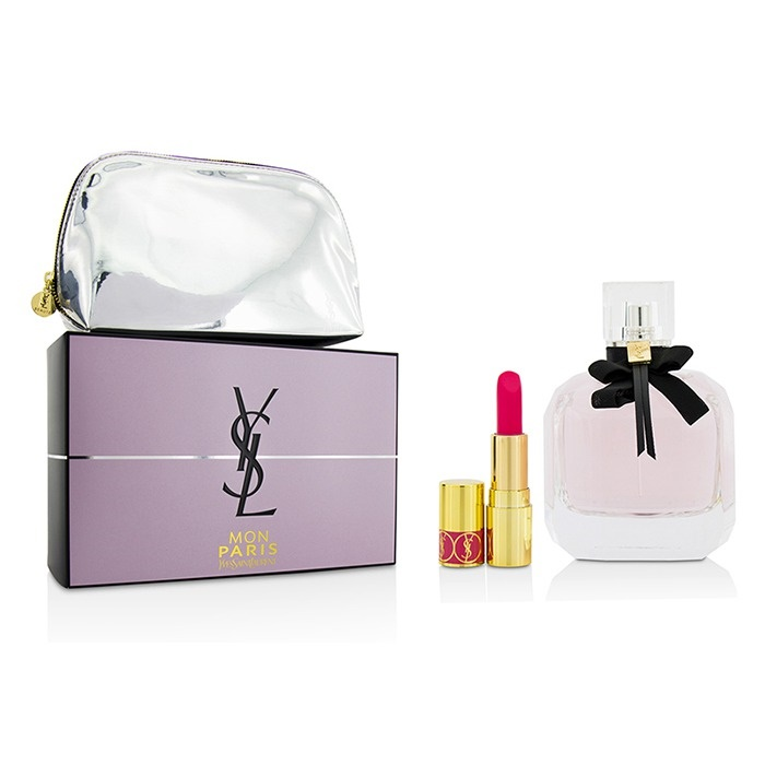 8faa00d3816 Yves Saint Laurent Mon Paris Coffret: EDP Spray 90ml/3oz + Mini Lipstick +.  Loading zoom