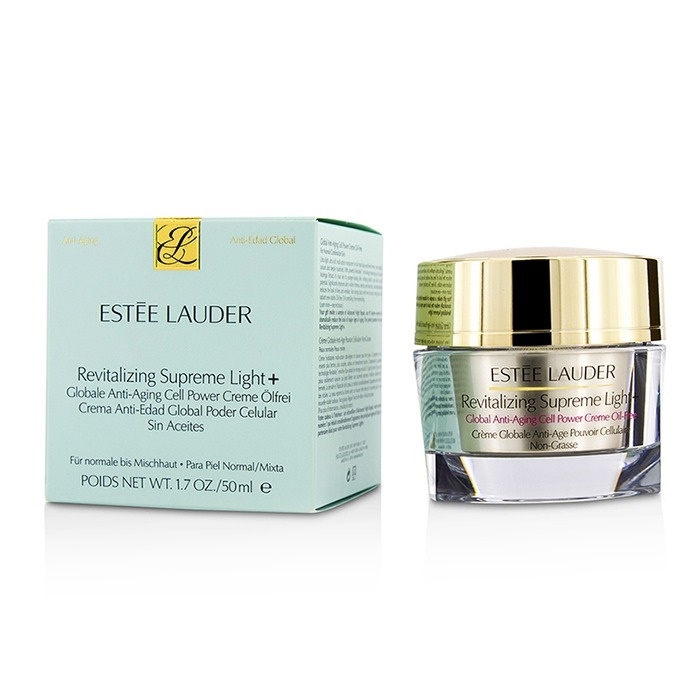 a6be7622bbb6 Estee Lauder Revitalizing Supreme Light + Global Anti-Aging Cell Power  Creme Oil-Free. Loading zoom
