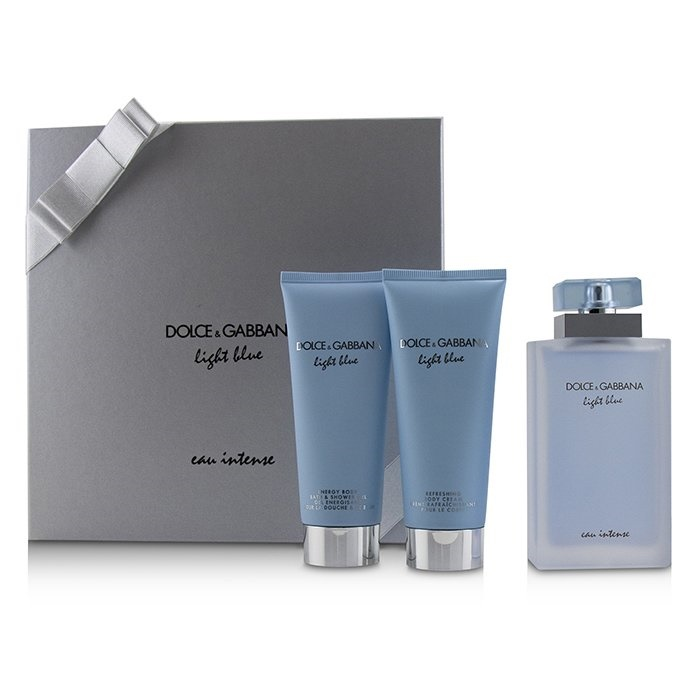 37401b77fb497d Dolce   Gabbana Light Blue Eau Intense Coffret  EDP Spray 100ml 3.3oz +.  Loading zoom