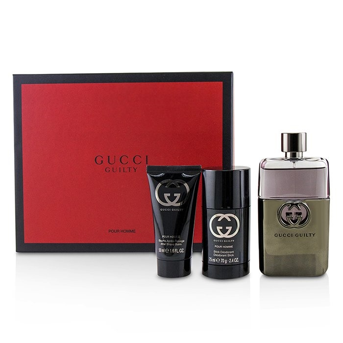 e1316ff14 Gucci Guilty Pour Homme Coffret: EDT Spray 90ml + Deodorant Stick 75ml +  After Shave. Loading zoom