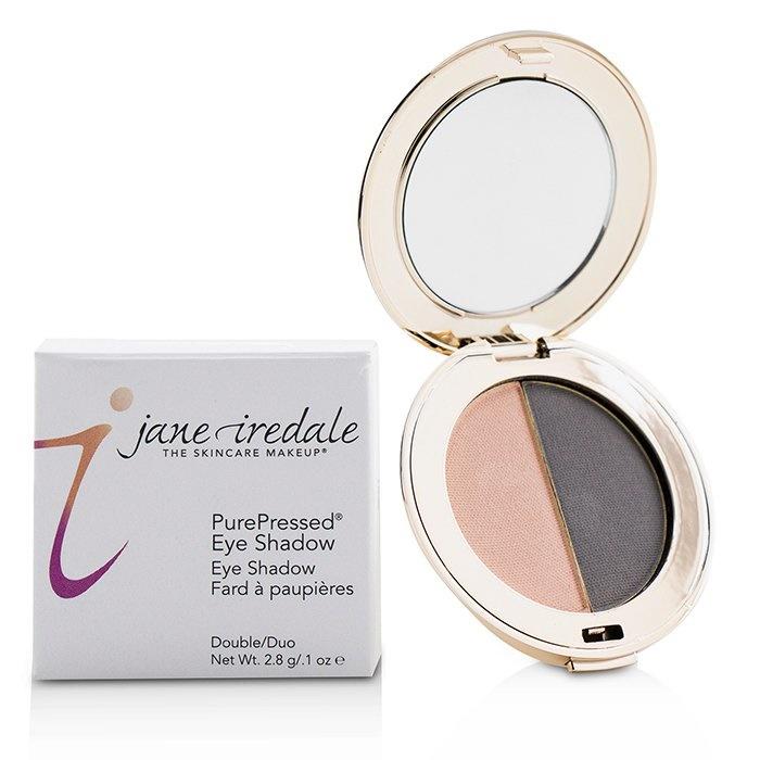 Jane Iredale PurePressed Duo Eye Shadow - Hush/Smokey Grey Makeup